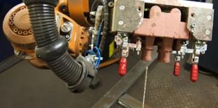 Robot helps to streamline tricky foundry task