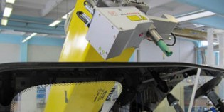 Robot sensor system monitors adhesive height and width