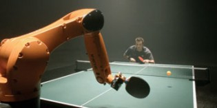 Table tennis star takes on fast, flexible KUKA robot
