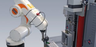 Robots perform quality control checks on insulin pens