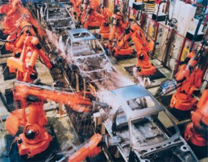 BMW buys 2,400 ABB robots for gluing and spot welding