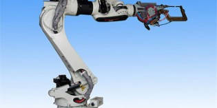 Compact robot achieves faster spot welding