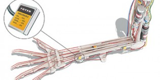 Load cells verify forces in humanoid robotic arm