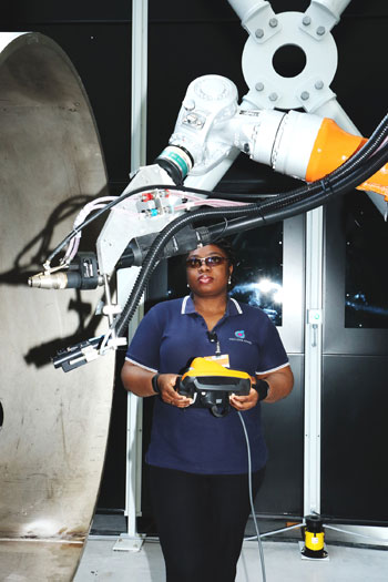Robot Cell From Kuka Systems Shapes Parts Assembly