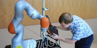 KUKA mobile robot in factory logistics research