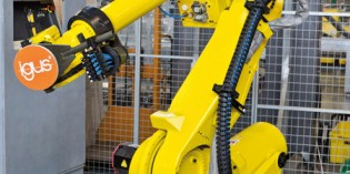Igus triflex RS dresspack for multi-axis industrial robots
