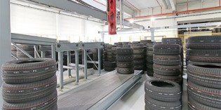 Güdel gantry robots sort and palletise tyres