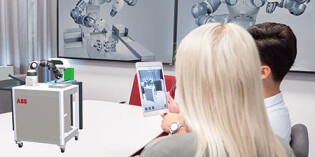 Augmented Reality on a smartphone simplifies robot installations